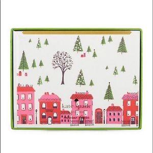 🆕🌸 Kate Spade ♠️ Holiday Village Card Set